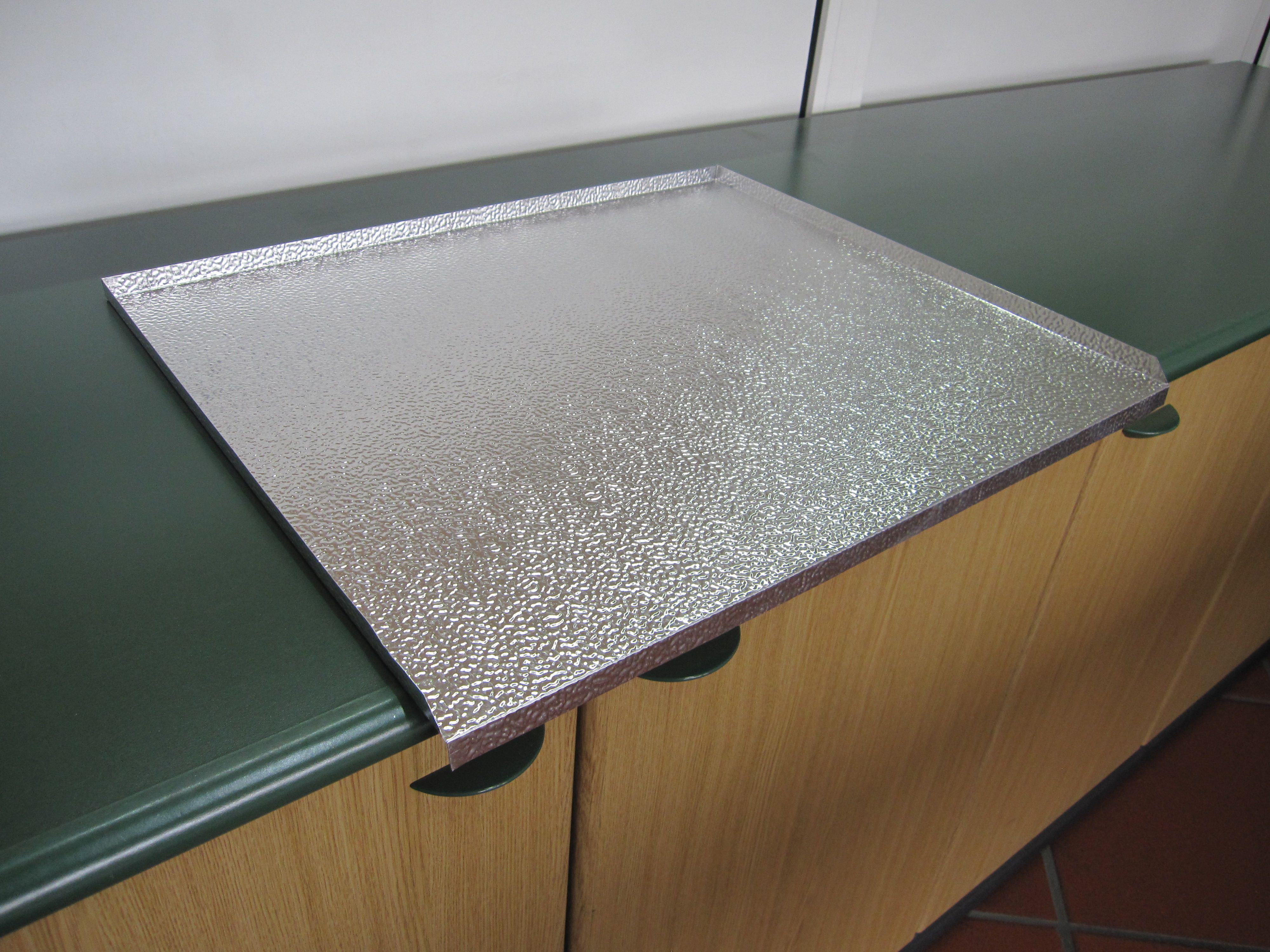 Protezione sottolavello alluminio per lavatoio 60 x 50 - Sottolavello bagno ...